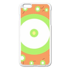 Green And Orange Design Apple Iphone 6 Plus/6s Plus Enamel White Case by Valentinaart