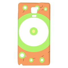 Green And Orange Design Galaxy Note 4 Back Case by Valentinaart