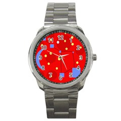 Red Sky Sport Metal Watch by Valentinaart