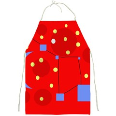 Red Sky Full Print Aprons by Valentinaart