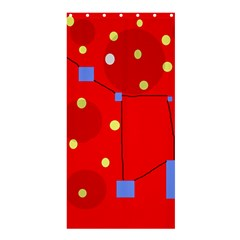 Red Sky Shower Curtain 36  X 72  (stall)  by Valentinaart