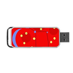 Red Sky Portable Usb Flash (two Sides) by Valentinaart