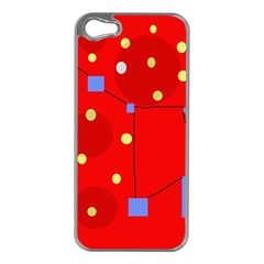 Red Sky Apple Iphone 5 Case (silver) by Valentinaart
