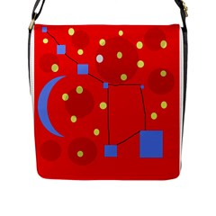 Red Sky Flap Messenger Bag (l)  by Valentinaart