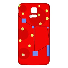 Red Sky Samsung Galaxy S5 Back Case (white) by Valentinaart