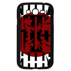 Red, Black And White Decorative Abstraction Samsung Galaxy Grand Duos I9082 Case (black) by Valentinaart