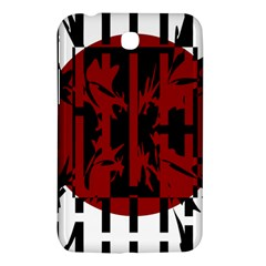 Red, Black And White Decorative Abstraction Samsung Galaxy Tab 3 (7 ) P3200 Hardshell Case