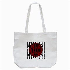 Red, Black And White Decorative Abstraction Tote Bag (white) by Valentinaart