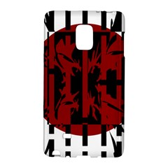 Red, Black And White Decorative Abstraction Galaxy Note Edge by Valentinaart