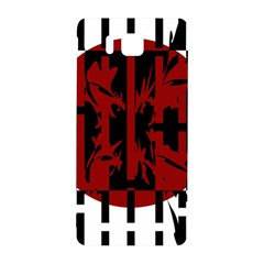 Red, Black And White Decorative Abstraction Samsung Galaxy Alpha Hardshell Back Case by Valentinaart