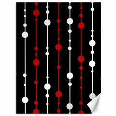 Red Black And White Pattern Canvas 36  X 48   by Valentinaart