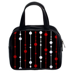 Red Black And White Pattern Classic Handbags (2 Sides) by Valentinaart