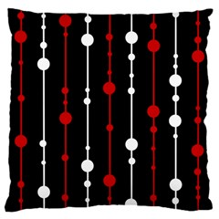 Red Black And White Pattern Large Cushion Case (two Sides) by Valentinaart