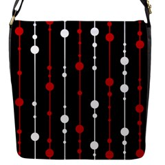 Red Black And White Pattern Flap Messenger Bag (s)