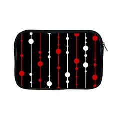 Red Black And White Pattern Apple Ipad Mini Zipper Cases by Valentinaart