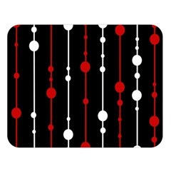 Red Black And White Pattern Double Sided Flano Blanket (large)  by Valentinaart