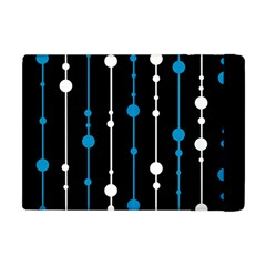 Blue, White And Black Pattern Apple Ipad Mini Flip Case