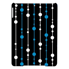 Blue, White And Black Pattern Ipad Air Hardshell Cases by Valentinaart
