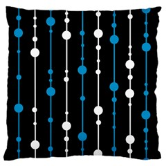Blue, White And Black Pattern Large Flano Cushion Case (two Sides) by Valentinaart