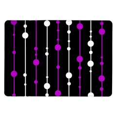 Purple, Black And White Pattern Samsung Galaxy Tab 10 1  P7500 Flip Case by Valentinaart