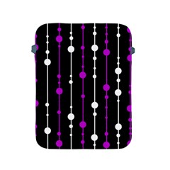 Purple, Black And White Pattern Apple Ipad 2/3/4 Protective Soft Cases by Valentinaart