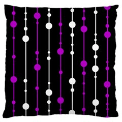 Purple, Black And White Pattern Standard Flano Cushion Case (two Sides) by Valentinaart