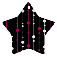 Magenta White And Black Pattern Star Ornament (two Sides)  by Valentinaart