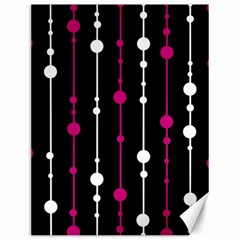 Magenta White And Black Pattern Canvas 12  X 16   by Valentinaart