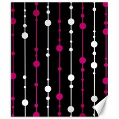 Magenta White And Black Pattern Canvas 20  X 24   by Valentinaart