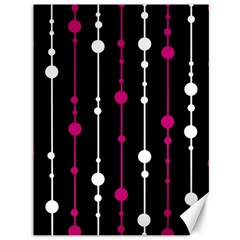 Magenta White And Black Pattern Canvas 36  X 48   by Valentinaart