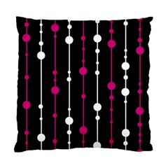 Magenta White And Black Pattern Standard Cushion Case (one Side) by Valentinaart