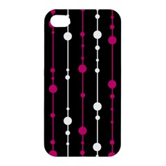 Magenta White And Black Pattern Apple Iphone 4/4s Hardshell Case by Valentinaart