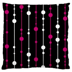 Magenta White And Black Pattern Large Cushion Case (one Side) by Valentinaart
