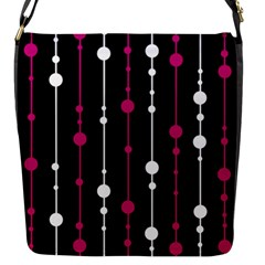 Magenta White And Black Pattern Flap Messenger Bag (s)