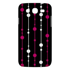 Magenta White And Black Pattern Samsung Galaxy Mega 5 8 I9152 Hardshell Case  by Valentinaart