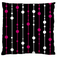 Magenta White And Black Pattern Large Flano Cushion Case (one Side) by Valentinaart