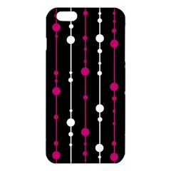 Magenta White And Black Pattern Iphone 6 Plus/6s Plus Tpu Case by Valentinaart