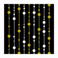 Yellow, Black And White Pattern Medium Glasses Cloth (2 Side) by Valentinaart
