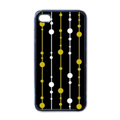Yellow, Black And White Pattern Apple Iphone 4 Case (black) by Valentinaart