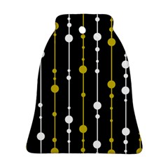 Yellow, Black And White Pattern Bell Ornament (2 Sides) by Valentinaart