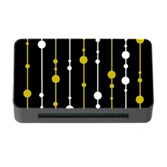 Yellow, Black And White Pattern Memory Card Reader With Cf by Valentinaart