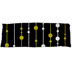 Yellow, Black And White Pattern Body Pillow Case (dakimakura) by Valentinaart