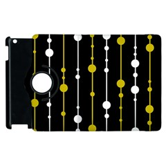Yellow, Black And White Pattern Apple Ipad 2 Flip 360 Case by Valentinaart