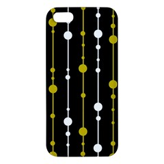 Yellow, Black And White Pattern Iphone 5s/ Se Premium Hardshell Case by Valentinaart