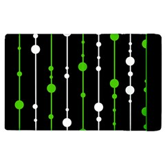 Green, White And Black Pattern Apple Ipad 2 Flip Case by Valentinaart