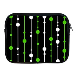 Green, White And Black Pattern Apple Ipad 2/3/4 Zipper Cases by Valentinaart