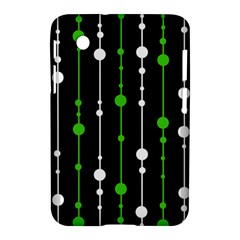 Green, White And Black Pattern Samsung Galaxy Tab 2 (7 ) P3100 Hardshell Case