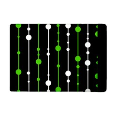 Green, White And Black Pattern Ipad Mini 2 Flip Cases by Valentinaart