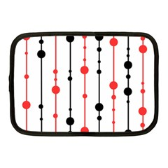 Red, Black And White Pattern Netbook Case (medium)  by Valentinaart