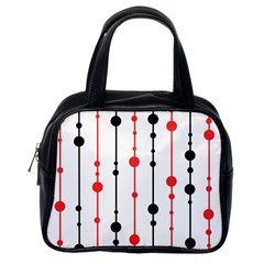 Red, Black And White Pattern Classic Handbags (one Side) by Valentinaart